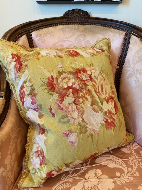 Linda James Antiques Country French Decorative Tapestry Pillow