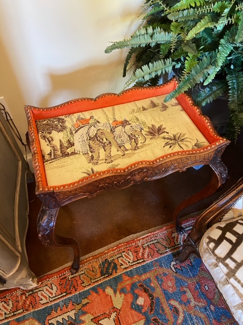 Linda James Antiques Country French Carved Wood Table