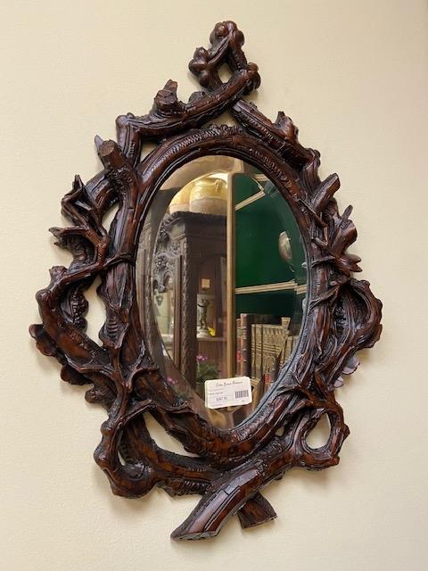 Antique Black Forest Mirror