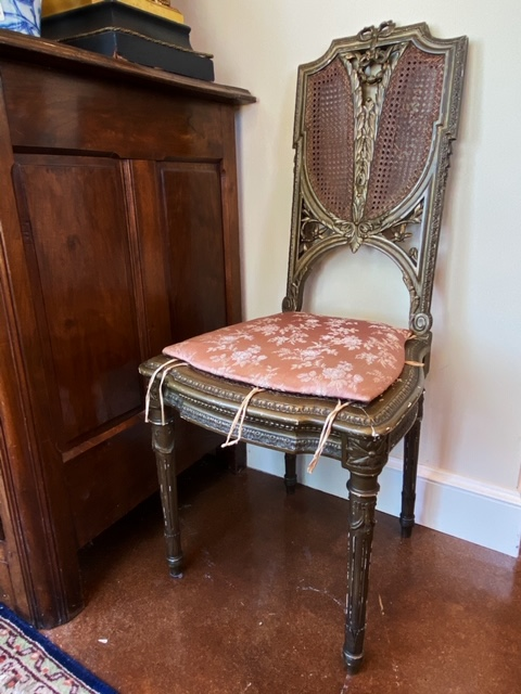 Linda James Antiques French Chair with Cane Back